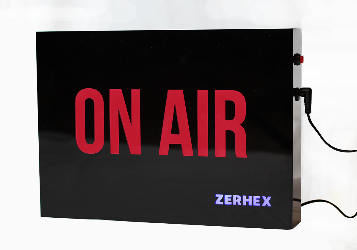 ZERHEX - ON AIR indicator sign